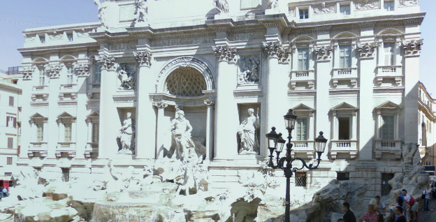 The Trevi Fountain in Rome photos