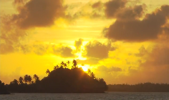 Sun Set In Tahiti